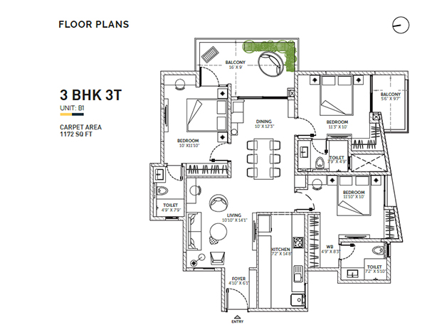 Assetz Sun and Sanctum Floor Plan